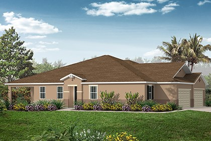 New Homes in Punta Gorda, FL - Plan 1464 Side View