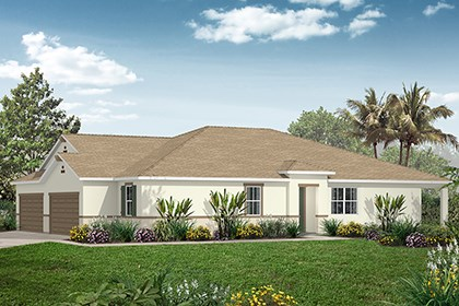 New Homes in Punta Gorda, FL - Plan 1523 Side View