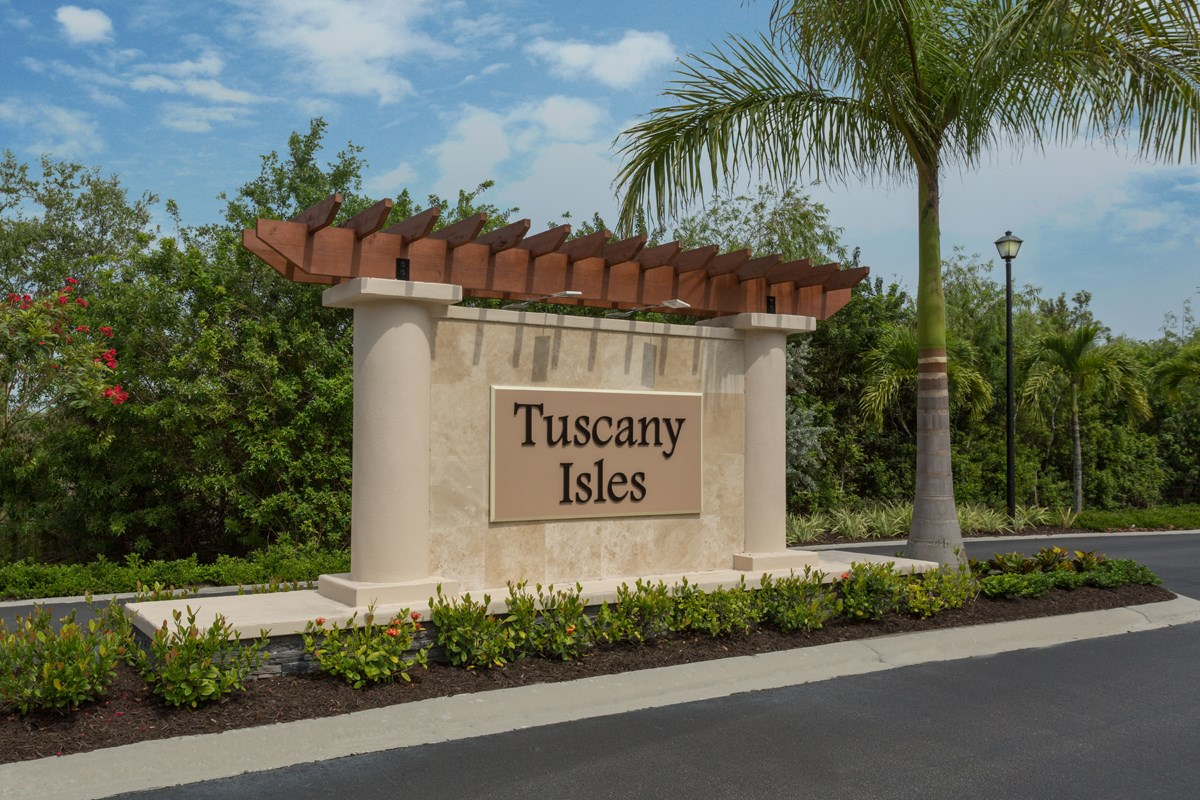 New Homes in Punta Gorda, FL - Tuscany Isles Entry Monument