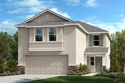 New Homes in Gibsonton, FL - Elevation B with Stone