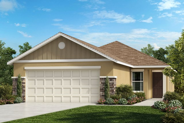New Homes in Gibsonton, FL - Elevation G with Stone