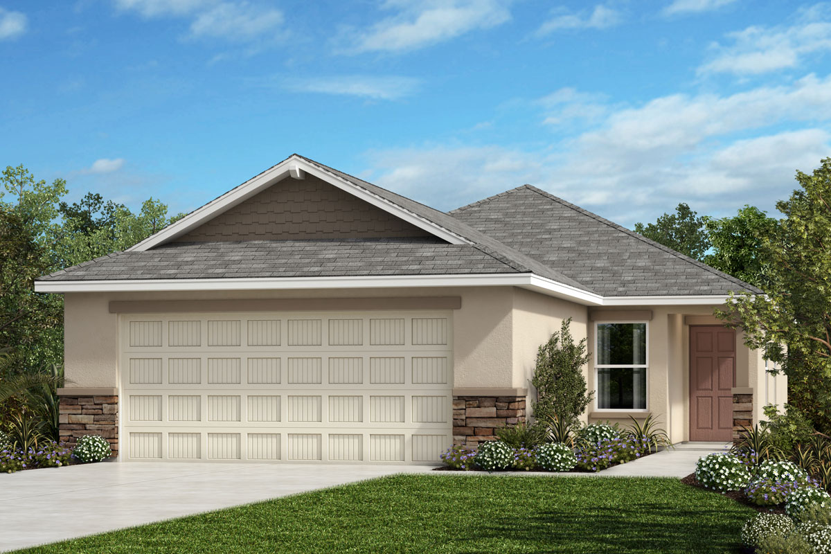 Elevation Stone Price : Plan modeled new home floor in northgate by kb