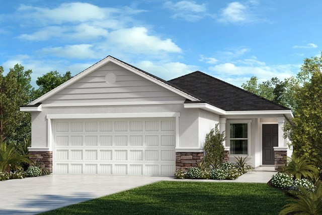 New Homes in Gibsonton, FL - Elevation F with Stone