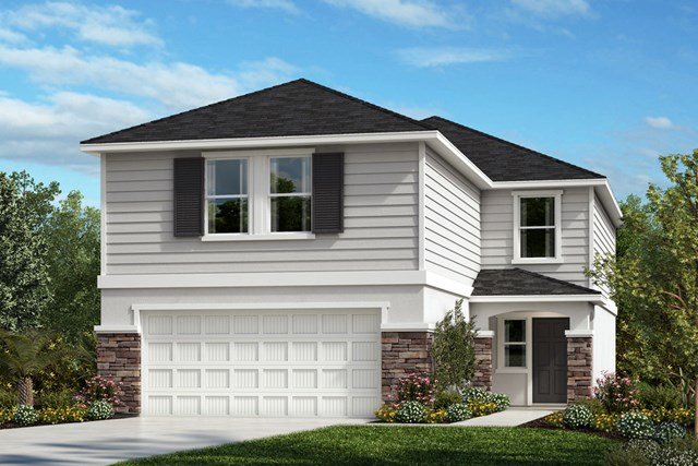 New Homes in Gibsonton, FL - Elevation E with Stone
