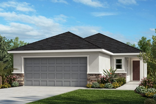 New Homes in Gibsonton, FL - Elevation A with Stone