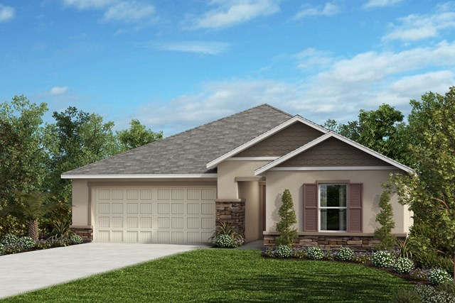 New Homes in Seffner, FL - Plan 1541 Elevation H with Stone