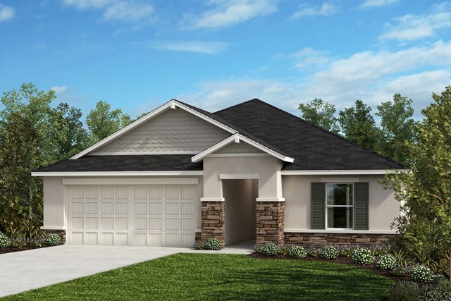 New Homes in Seffner, FL - Plan 1707 Elevation H with Stone