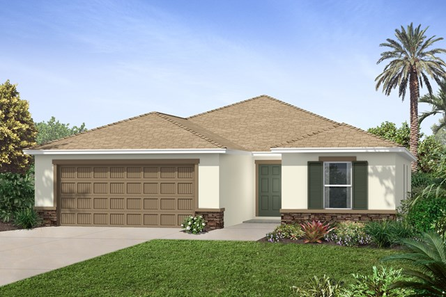New Homes in Seffner, FL - Elevation A Stone