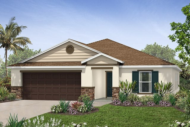 New Homes in Seffner, FL - Plan 2003 Elevation J w/ Stone