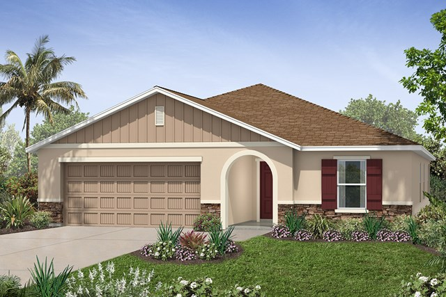 New Homes in Seffner, FL - Plan 2003 Elevation K w/ Stone