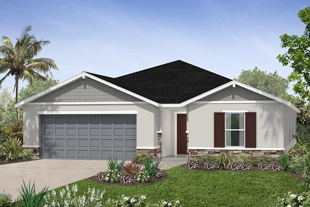 New Homes in Seffner, FL - Plan 2003 Elevation L w/ Stone