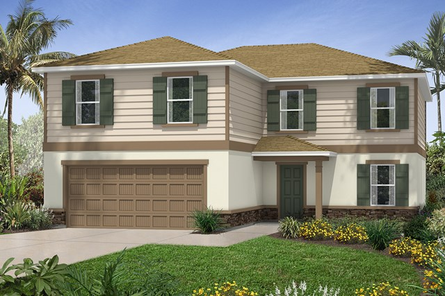 New Homes in Seffner, FL - Plan 2550 Elevation E with Stone
