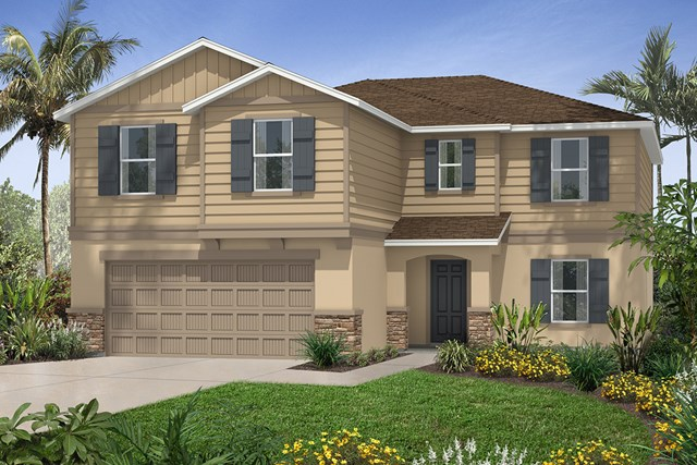 New Homes in Seffner, FL - Plan 2550 Elevation G with Stone
