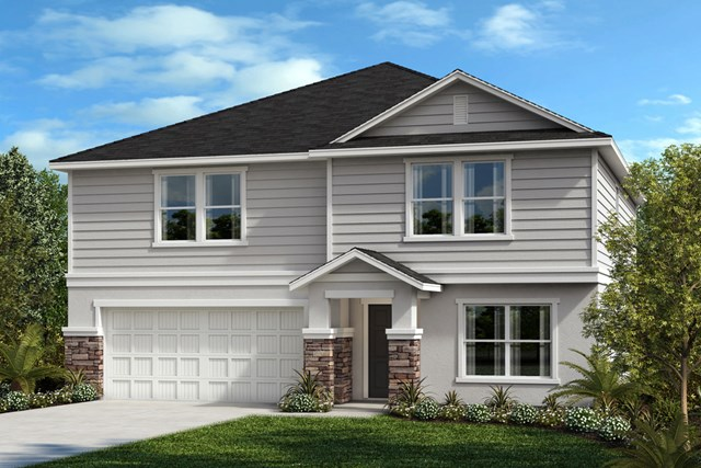 New Homes in Seffner, FL - Plan 2716 Elevation F with Stone