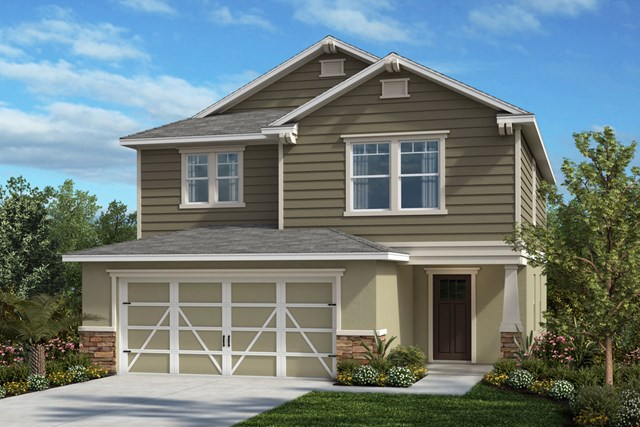 New Homes in Seminole, FL - Plan 2107 Elevation I w/ Stone