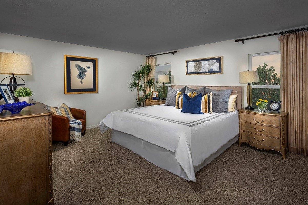 New Homes in Seminole, FL - Artisan Preserve Plan 2851 Master Bedroom as modeled at Seminole Groves