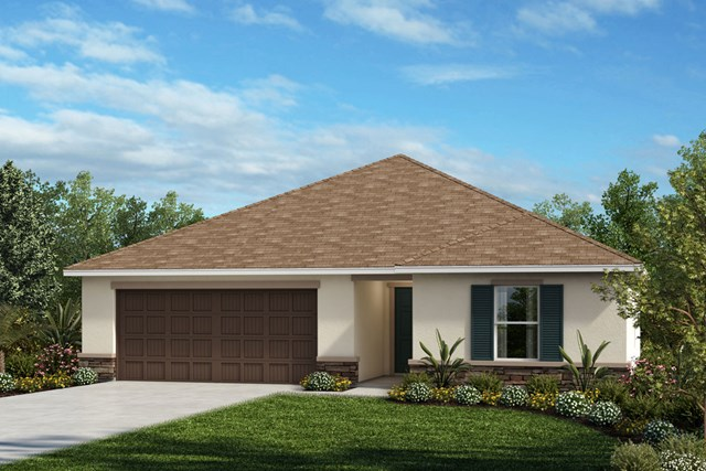 New Homes in Seffner, FL - Plan 1286 Elevation A Stone