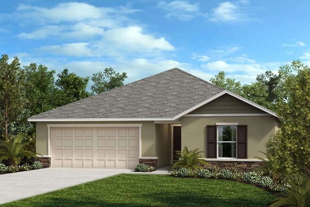 New Homes in Seffner, FL - Plan 1286 Elevation F Stone
