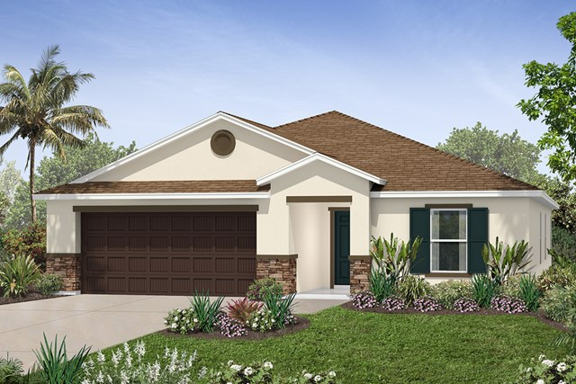 New Homes in Seffner, FL - Plan 2003 Elevation B w/ Stone