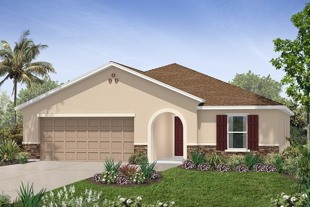 New Homes in Seffner, FL - Plan 2003 Elevation C w/ Stone