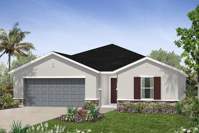New Homes in Seffner, FL - Plan 2003 Elevation D w/ Stone