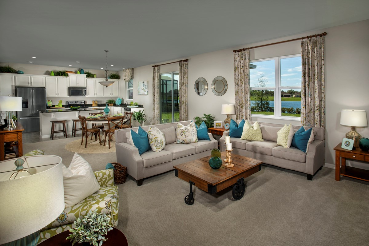 New Homes in Riverview, FL - Ibis Cove I at South Fork Plan 2550 Great Room