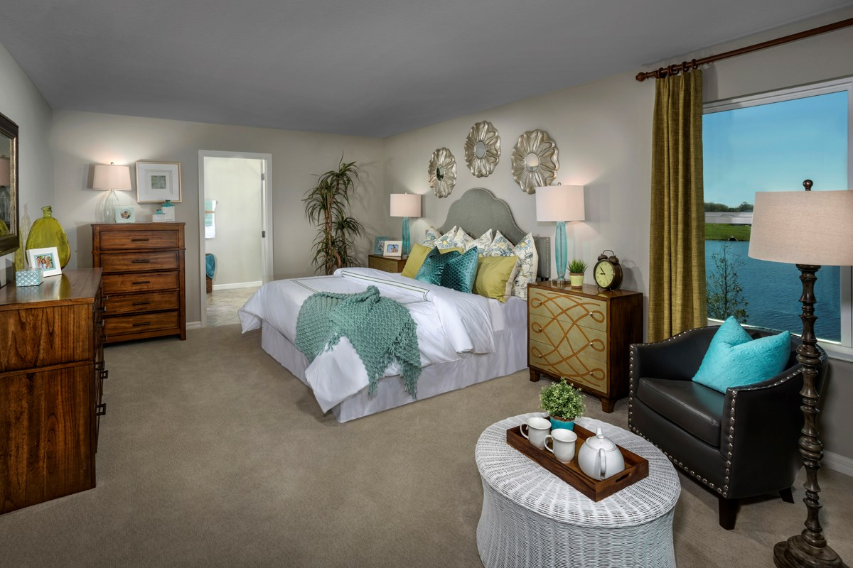 New Homes in Riverview, FL - Ibis Cove I at South Fork Plan 2550 Master Bedroom