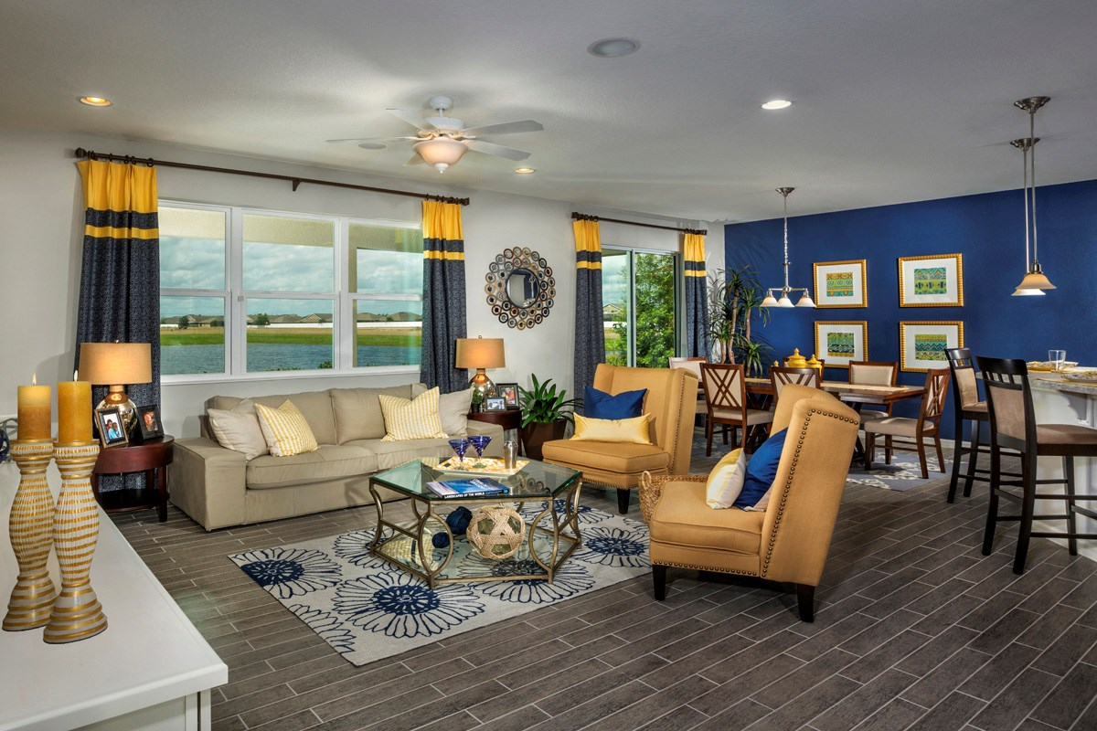 New Homes in Riverview, FL - Ibis Cove II at South Fork 3021 Great Room & Nook