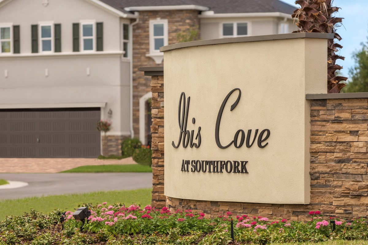 New Homes in Riverview, FL - Ibis Cove I at South Fork Community Entrance