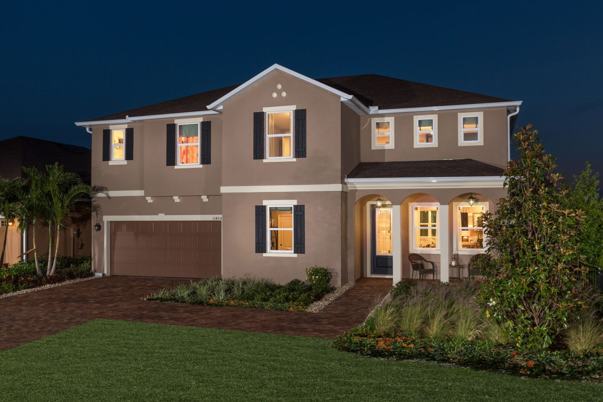 New Homes in Riverview, FL - Ibis Cove II at South Fork Plan 3411 Exterior