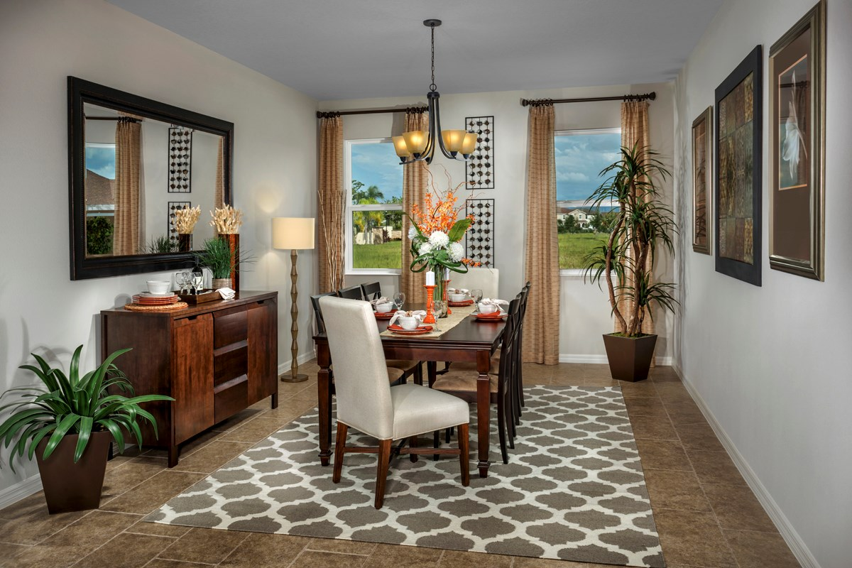 New Homes in Riverview, FL - Ibis Cove II at South Fork Plan 2620 Formal Dining Room