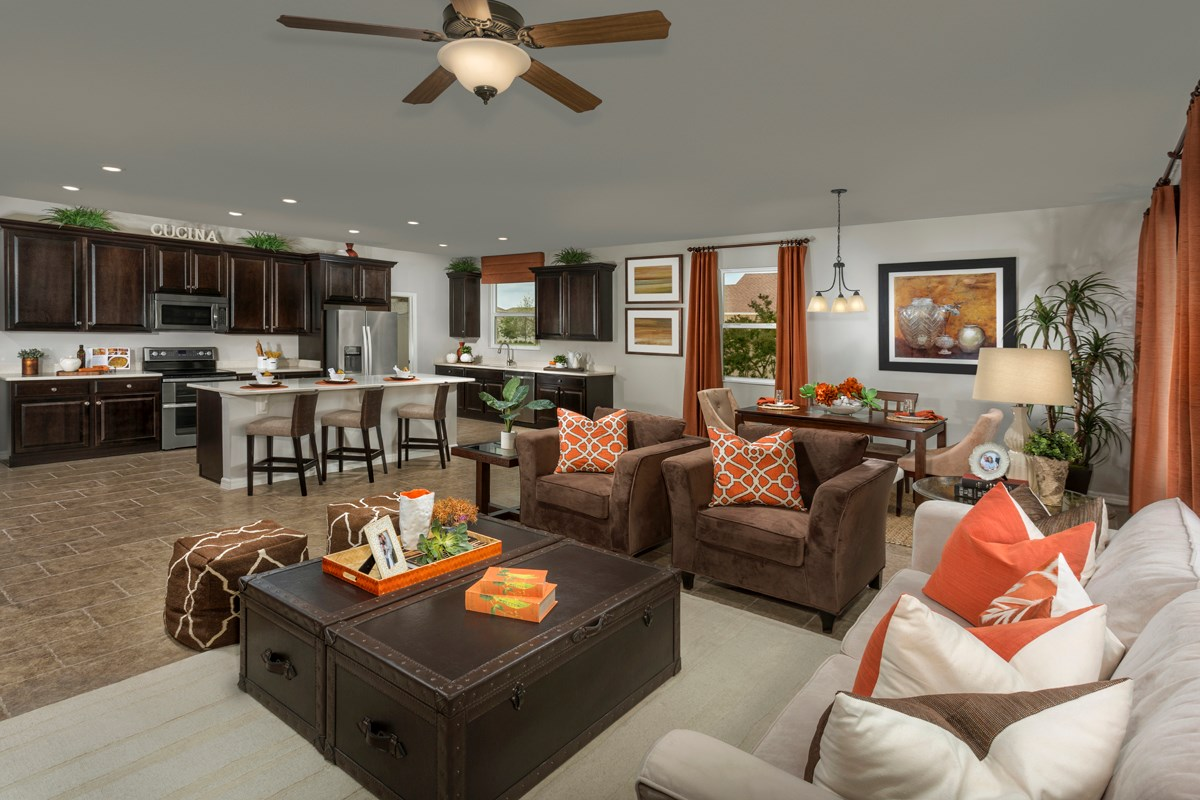 New Homes in Riverview, FL - Ibis Cove II at South Fork Plan 2620 Great Room