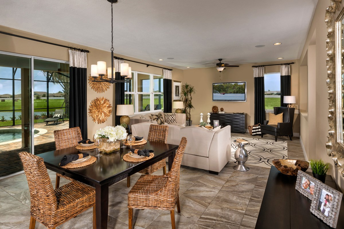 New Homes in Riverview, FL - Ibis Cove II at South Fork 3411 Nook & Great Room