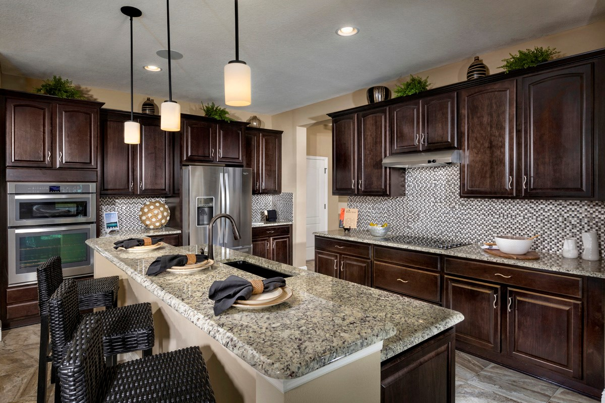 New Homes in Riverview, FL - Ibis Cove II at South Fork 3411 Gourmet Kitchen