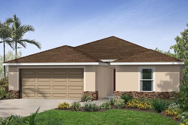New Homes in Riverview, FL - Elevation A Stone