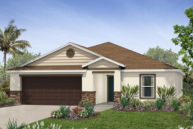 New Homes in Riverview, FL - Elevation J with Stone