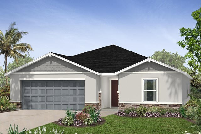 New Homes in Riverview, FL - Elevation L with Stone