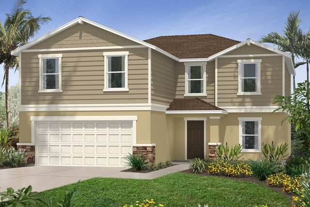 New Homes in Riverview, FL - Elevation H with Stone