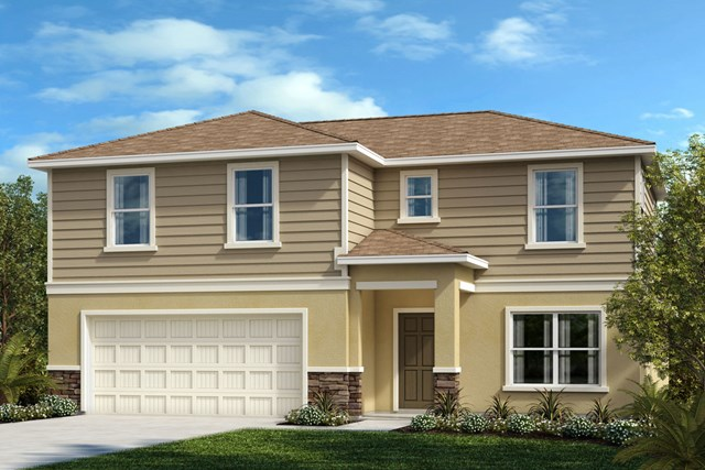 New Homes in Riverview, FL - Elevation E with Stone