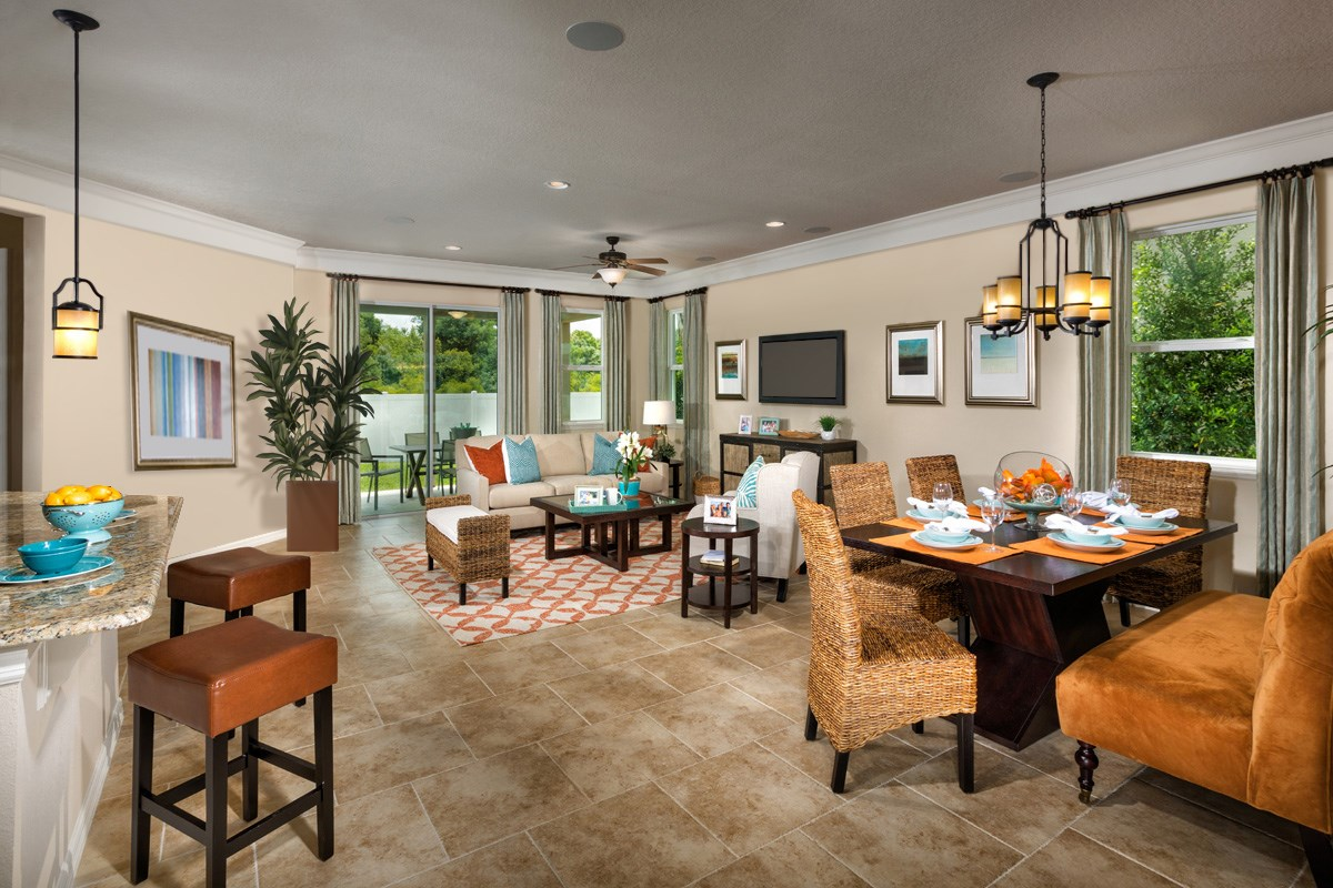 New Homes In Wimauma Fl Mirabella Plan 2003 Great Room
