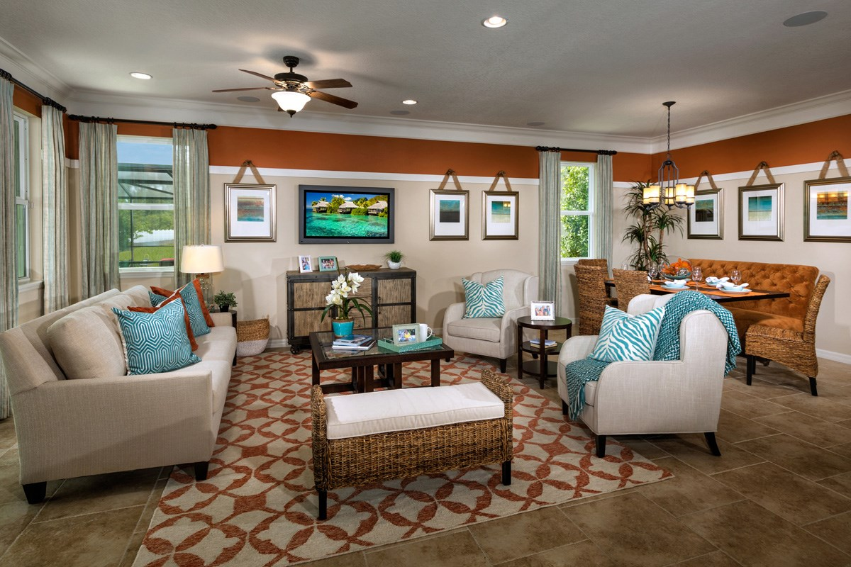 New Homes in Wimauma, FL - Mirabella 2003 Great Room