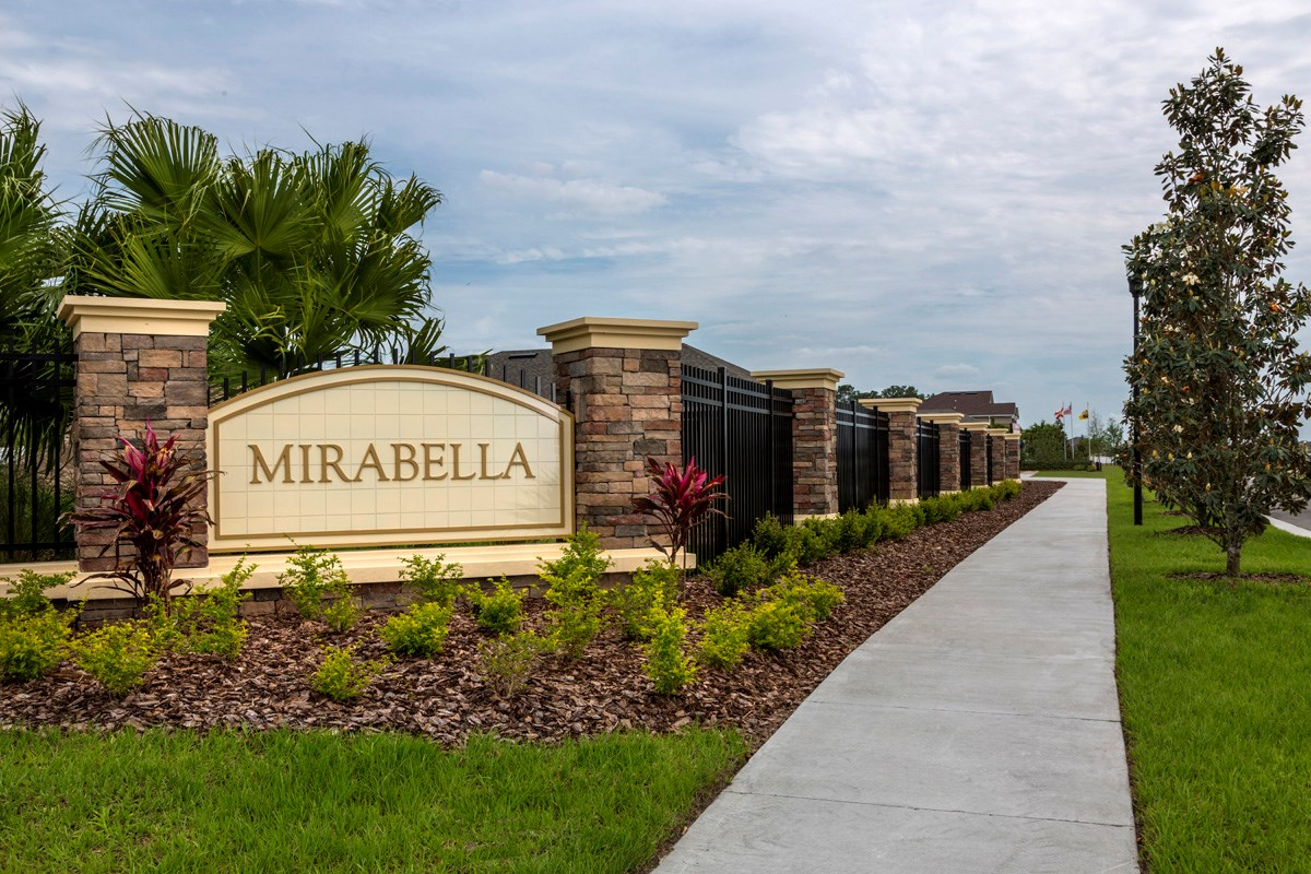 New Homes in Wimauma, FL - Mirabella Community Entrance