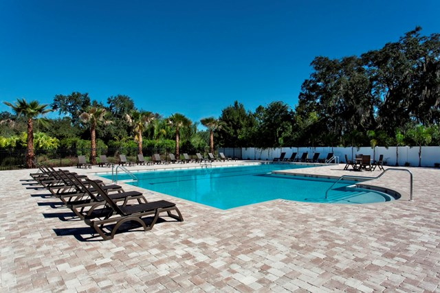 Pool at a KB Home community in Wimauma, FL