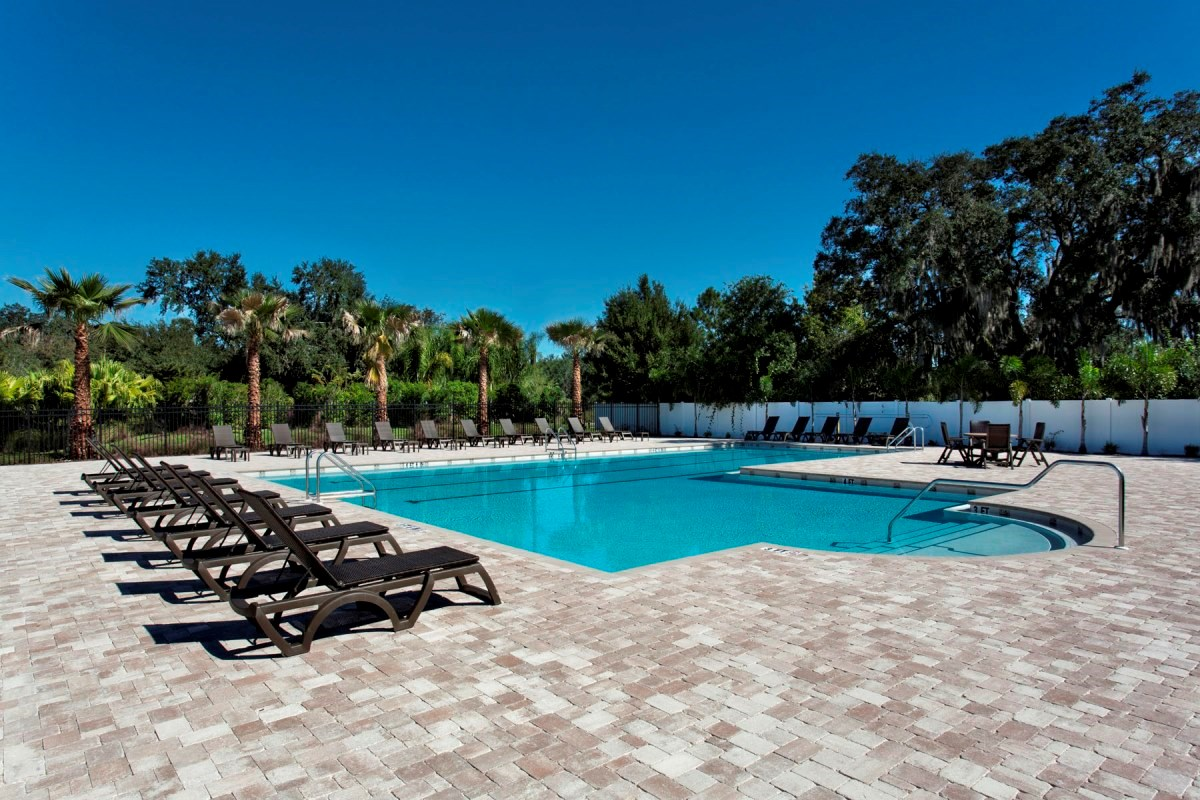 New Homes in Wimauma, FL - Mirabella Community Pool