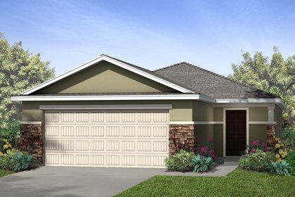New Homes in Riverview, FL - Elevation B with Stone