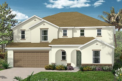 New Homes in Punta Gorda, FL - Elevation A with Stone