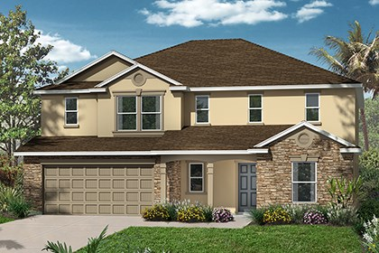 New Homes in Punta Gorda, FL - Elevation C with Stone
