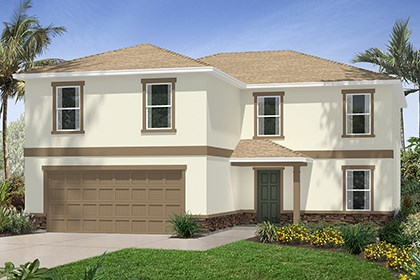 New Homes in Riverview, FL - Elevation A with Stone