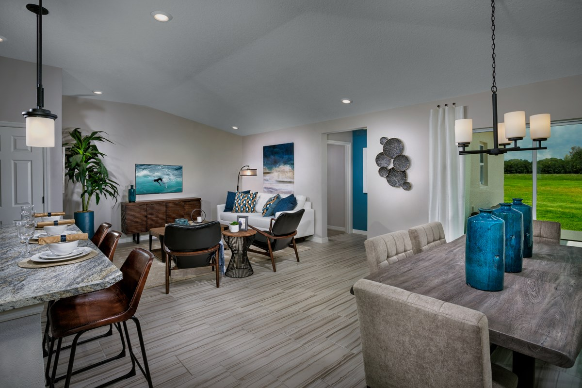 New Homes in Gibsonton, FL - Northgate 1637 Great Room