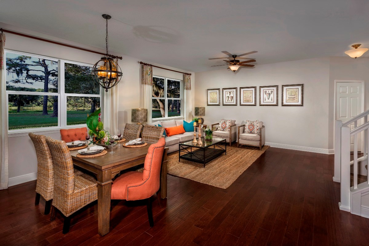 New Homes in Seminole, FL - Seminole Groves Plan 2851 Dining and Living Room